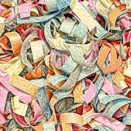 altered: Multicolored confetti as abstract as background.Digitally altered image. Stock Photo