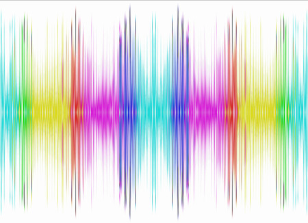 voice: Abstract multicolored equalizer on white background.Digitally generated image.