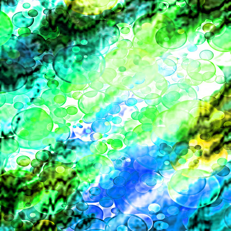 altered: Turquoise spotted and blurry abstract background.Digitally altered image. Stock Photo
