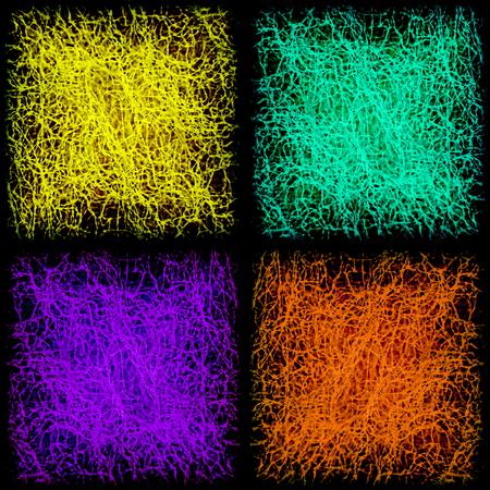 Veelkleurige patch patroon collage in schaakbord orde als abstracte background.Digitally geproduceerd beeld.