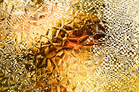 Yellow polygonal mosaic pattern as abstract background.Digitally generated image. Stock Photo