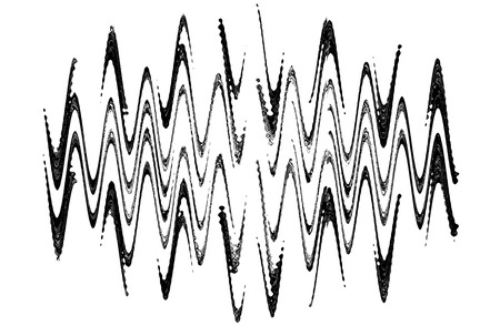 Abstract waveform pattern on white background.Digitally generated image.