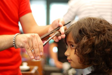 hairdress: Beautifull girl at hairdress salon