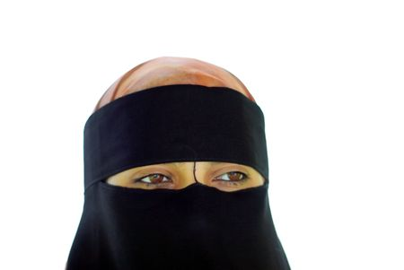 purdah: Muslim veiled girl