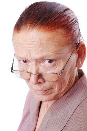 starr: Stark im mittleren Alter Lehrer mit Brille suchen