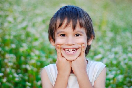 Kid with smile on face Stock Photo - 5220300