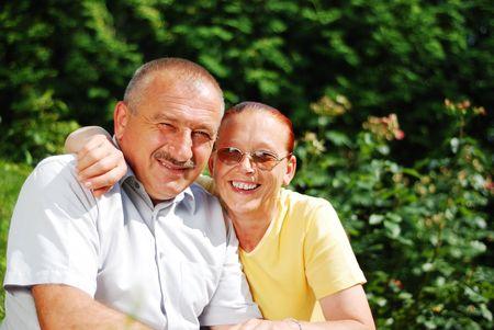 Happy elderly couple Stock Photo - 5256699