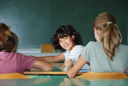 Pupil activities in the classroom at school Stock Photo