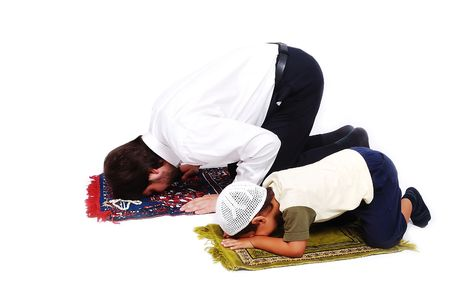 Muslim worship activites in Ramadan holy month photo