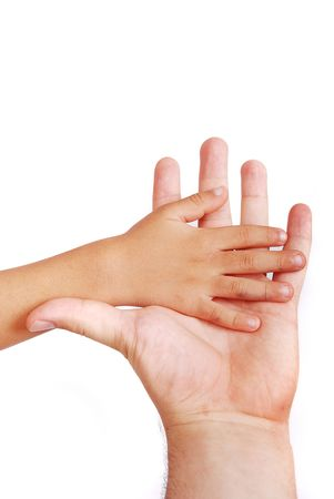 active adult community: Little hand put on the big one