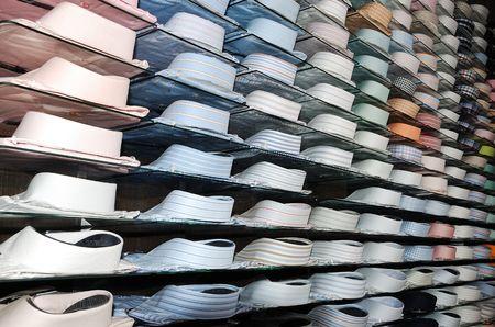 Shirt shelfs, fashion colored shirts Stock Photo - 5396398