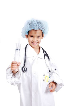 A little cute boy in doctor clothes Stock Photo - 5411702