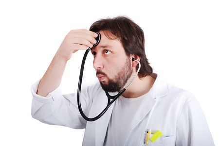 Young male doctor is taking care of himself Stock Photo - 5411565