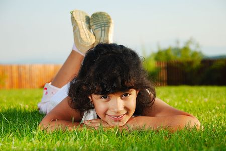 Beautiful green place and children activities Stock Photo - 5411692