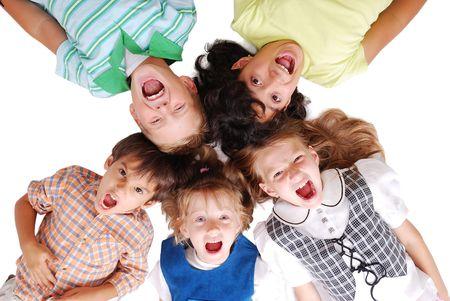 Circle, happy children  photo