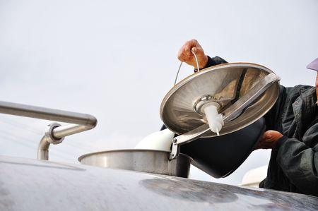 milkman: Collecting fresh milk with trucks