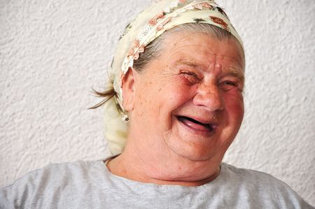delightful: Old aged female person, very delightful and funny face
