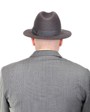 Young bald businessman from his back Banco de Imagens