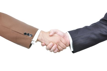 smartness: Two businessmen hands shaking Stock Photo
