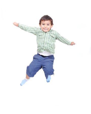 乳幼児: 小さなかわいい子供分離ジャンプ