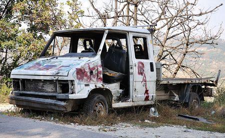 Abandoned destroyed car Stock Photo - 5696495