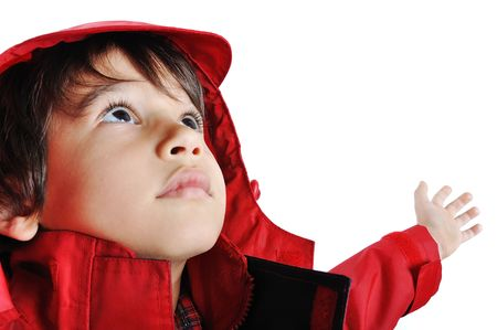 Very cute child in autumn winter fashion clothes Stock Photo - 5730968