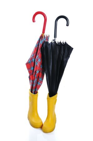 children s feet: Preparing for winter and fall, umbrella and boots