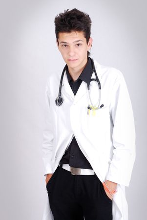 Young male doctor in white Stock Photo - 5781861
