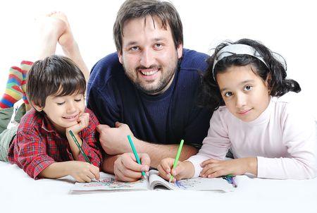 Happy family drawing  photo