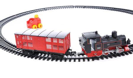 Train toy, present for children photo