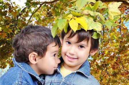 Children, fall photo
