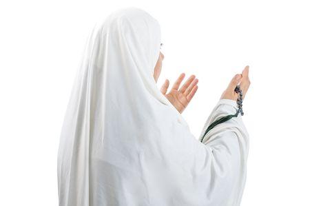 femme musulmane: Femme de musulman arabe asiatique avec des v�tements