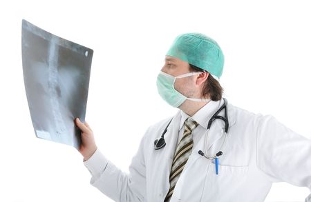 Young attractive male doctor in characteristic clothes Stock Photo - 6011821