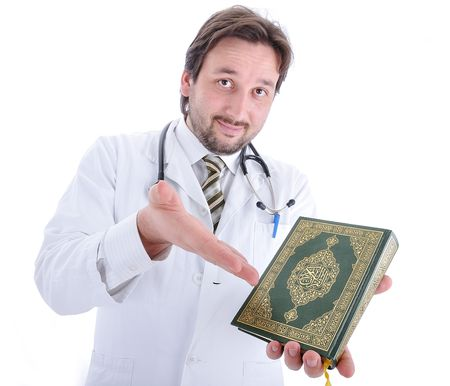 Young attractive male doctor in characteristic clothes Stock Photo - 6011952