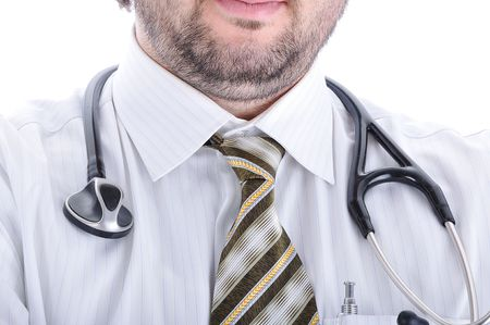 Young attractive male doctor in characteristic clothes Stock Photo - 5973103