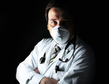 Young attractive male doctor in characteristic clothes Stock Photo - 6011944