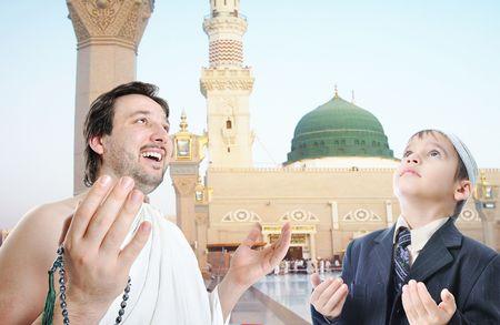 dovere: La gente su santo dovere islamico in Makka, Arabia Saudita