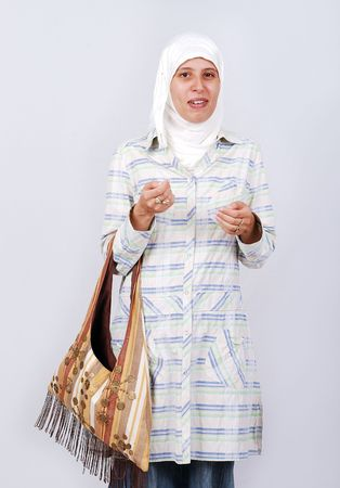 significant: Asian arabic muslim woman with significant clothes