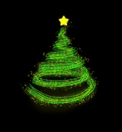 lighted: Christmas holiday details, illustrated with great colors