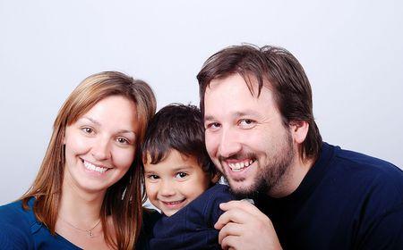 Very beautiful happy family,3 members  photo