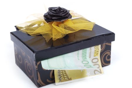 Money in chest photo
