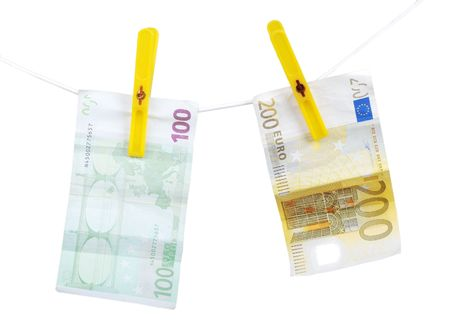 Money on string photo