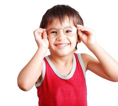 sweetly:   Little Beautiful funny boy Stock Photo