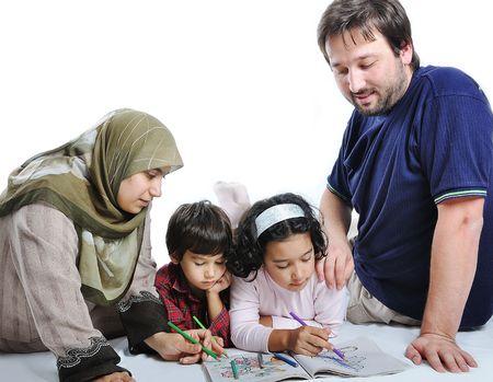 femme musulmane: famille muslim