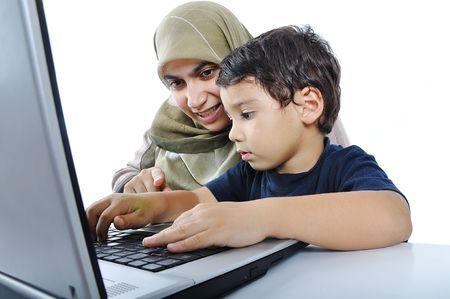 boy arabic: muslim mom