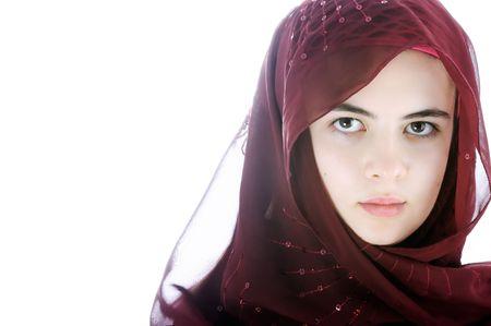 veil:  Beautiful muslim  girl
