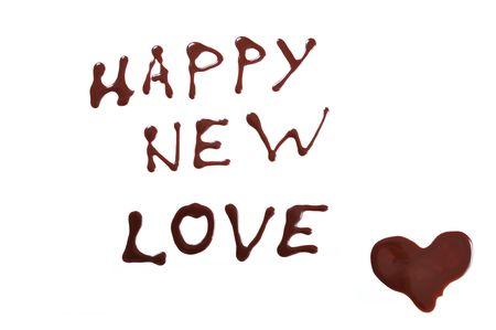 new love: Happy new love, chocolate Stock Photo