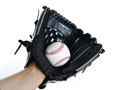 Baseball glove and ball photo