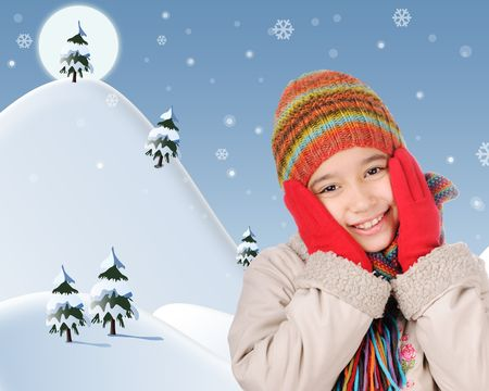 Winter happiness Stock Photo - 6198330