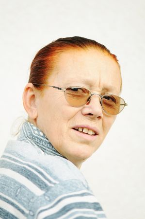 decrepitude: old woman Stock Photo